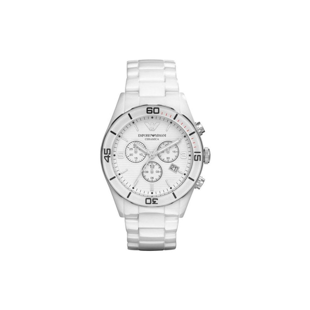 5ee8515be15f4 Emporio Armani AR1424 Mens White Ceramica Watch - Mens Watches from ...