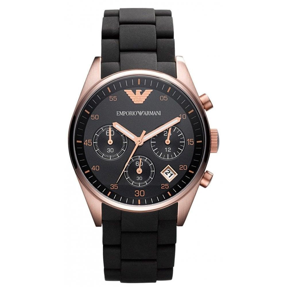 e448a543a1 Emporio Armani AR5906 Ladies Black Tazio Watch - Womens Watches from ...