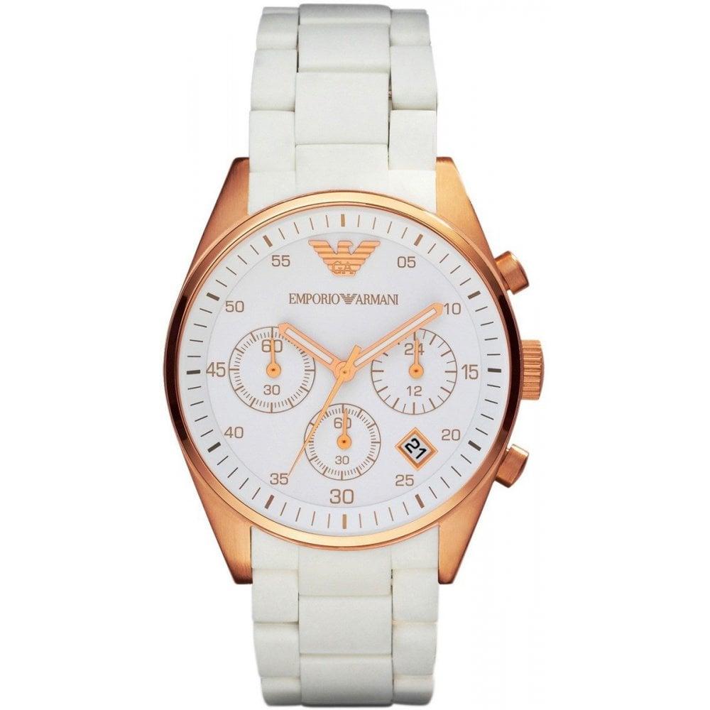 6268028085 AR5920 Ladies White Tazio Watch