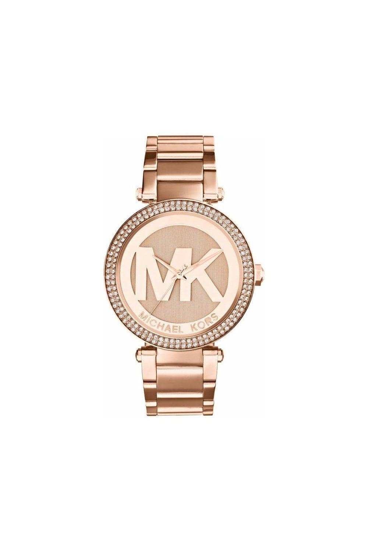 b77d831ac00b Michael Kors MK5865 Ladies Rose Gold Parker Watch - Womens Watches ...